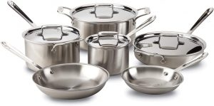 All-Clad Brushed D5 Pots and Pans Set